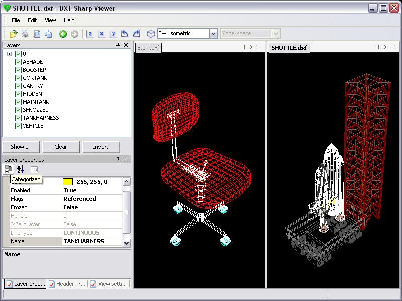 DWG DXF Sharp Viewer Screen shot